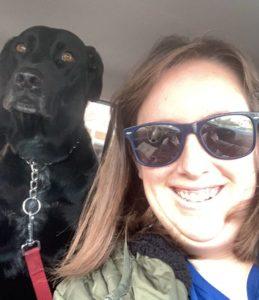 Jennifer with her dog